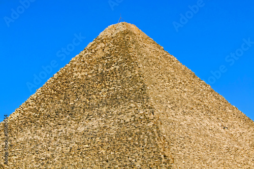 Foto op Aluminium Egypte Great pyramid top
