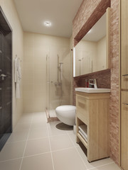 Contemporary style bathroom interior