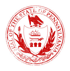 Pennsylvania Seal Rubber Stamp