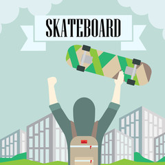 longboard skateboard and