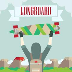 longboard skateboard and