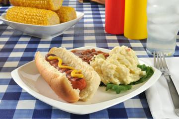 Grilled mustard dog