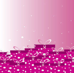 pink boxes of gifts Print