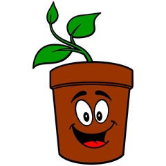 Potted Plant Mascot