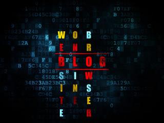 Web development concept: word Blog in solving Crossword Puzzle
