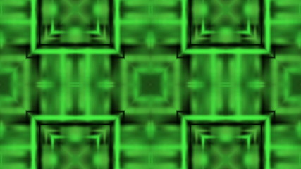 Bright green kaleidoscope