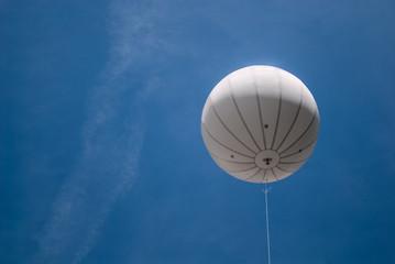 Advertising white balloon