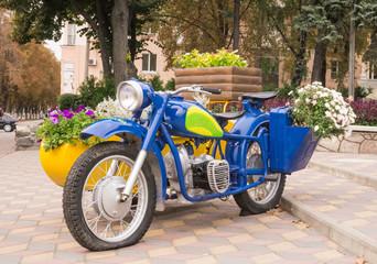 Яркий мотоцикл