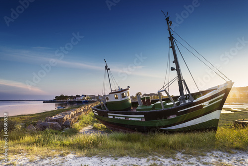 Fotobehang Kust Le Crotoy Baie de Somme France