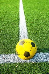 Football on soccer field