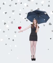Rain hearts girl