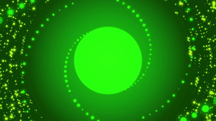 abstract loop motion green background, particle element