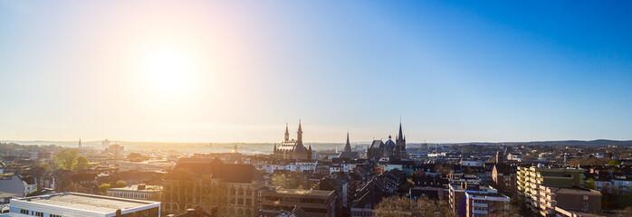 Aachen city skyline panorama