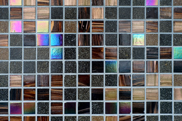 Colorful mosaic tiles wall