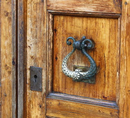 old durable brass door knocker