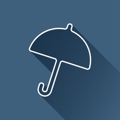 Vector flat umbrella icon  isolated outline. Eps10