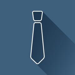 Vector flat isolate outline tie icon. Eps10