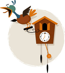 Cartoon cuckoo clock