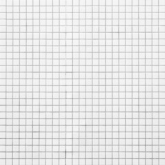 White Mosaic Tiles abstract background and texture..