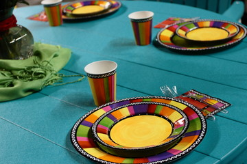 Patio Table Set For A Party