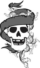 skull ribbon tattoo tshirt