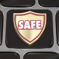 Safe Shield Computer Keyboard Key Button Virus Protection