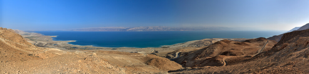 Panorama of Dead Sea in January