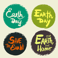 Set lettering Earth Day