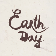 Lettering Earth Day