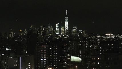 Night view New York City