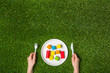 Hungry for creativity with wooden blocks - 81694978