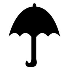 黒い傘のイラスト
