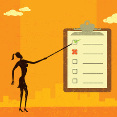Examining a checklist