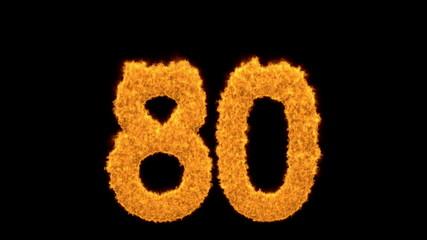 Flaming orange fiery number 88
