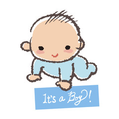 赤ちゃん 男の子 Baby shower concept- it's a boy!