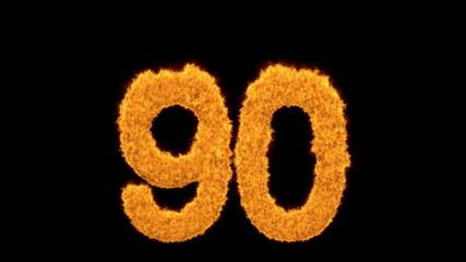 Dynamic fiery number 90