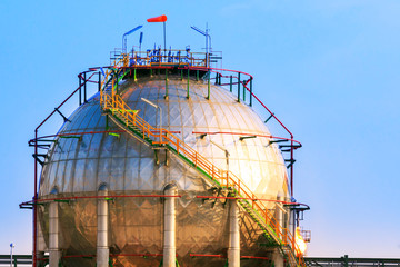 natural petrochemical gas storage tank in heavy petroleum indust