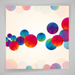 Multicolor abstract bright background. Circles elements.