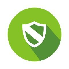 Icono escudo 2 verde botón sombra