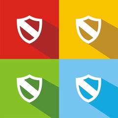 Iconos escudo 2 colores sombra