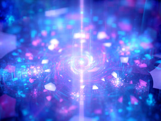 Energy source with magical particles