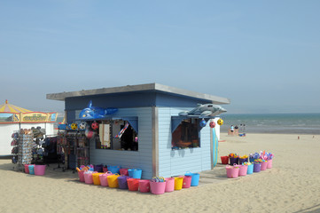 Stall on seafront, Weymouth, Dorset