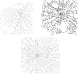 three black spider webs collection