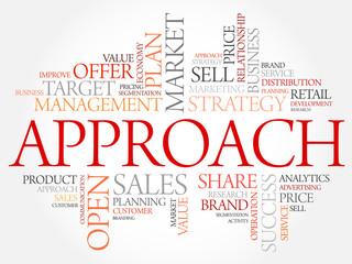 Approach word cloud, business concept