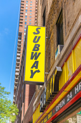 NEW YORK - MAY 22: A Subway fast food outlet on May 22, 2013 in