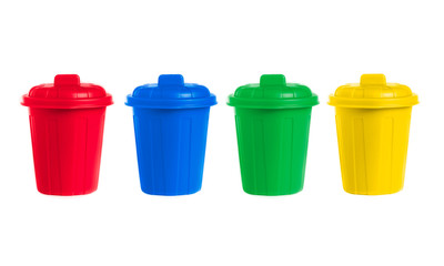 many color wheelie bins set
