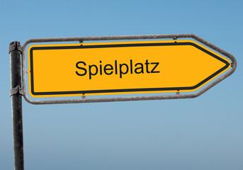 Strassenschild 38 - Spielplatz