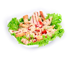 Beautiful caesar salad.