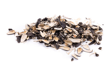 Bunch of sunflower seeds pile.