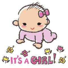赤ちゃん 女の子 Baby shower concept- it's a girl!